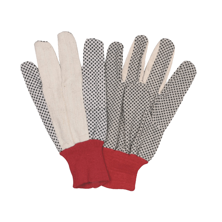 drill cotton gloves PVC dotted cotton gloves