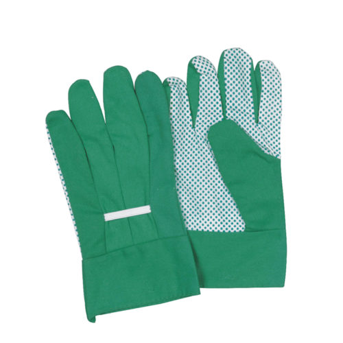 Garden drill cotton gloves