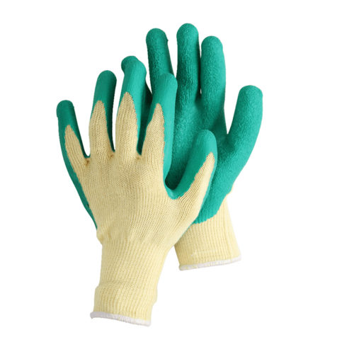 10 gauge string knitted with latex coated gloves