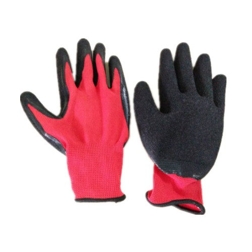 13 Gauge polyester latex coated working gloves