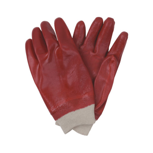 26cm red pvc gloves