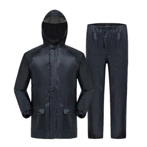 Rain suit rubberized rain suit