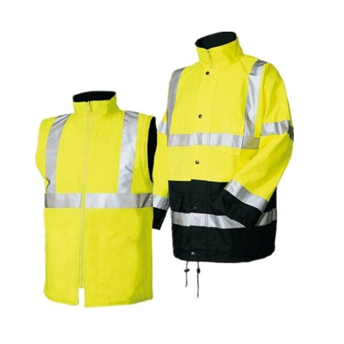multi function hi vis winter safety reflective jacket