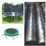 black PE tarpaulin for trampoline